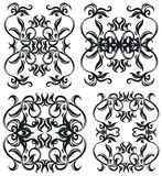 Decorative set V b&w Stock Photos