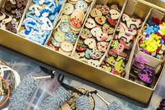 Decorative Sewing buttons Stock Photos