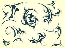 Decorative shapes Royalty Free Stock Images