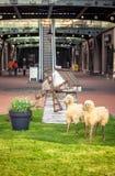 Decorative sheep at big shopping mall Stock Image