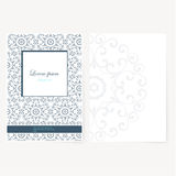 Decorative sheet of paper with oriental design Stock Images