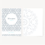 Decorative sheet of paper with oriental design Stock Photos