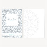 Decorative sheet of paper with oriental design Stock Photography