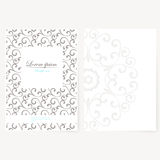 Decorative sheet of paper with oriental design Royalty Free Stock Photo
