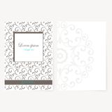 Decorative sheet of paper with oriental design Royalty Free Stock Image