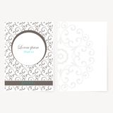 Decorative sheet of paper with oriental design Stock Image