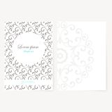 Decorative sheet of paper with oriental design Stock Photo