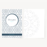 Decorative sheet of paper with oriental design Royalty Free Stock Photos