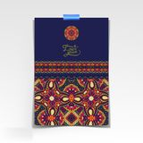 Decorative sheet of paper with oriental floral Royalty Free Stock Photography