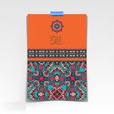 Decorative sheet of paper with oriental floral Royalty Free Stock Images