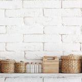 Decorative shelf royalty free stock images