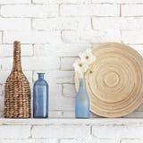 Decorative shelf royalty free stock photos