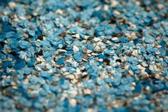Decorative shell texture, blue fractions Royalty Free Stock Photography
