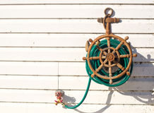 Decorative ships anchor water hose Royalty Free Stock Images
