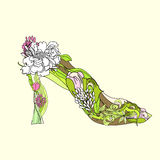 Decorative shoes Royalty Free Stock Photography