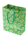 Decorative shopping bag on white Royalty Free Stock Photography