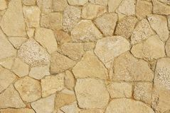 Decorative sidewalk paved with natural sandstone royalty free stock photos