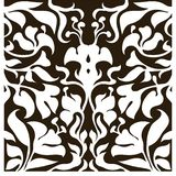 Decorative silhouette for cutting card, door, gate, window. Art Nouveau flowers pattern. Laser cut. Ratio 1:1 Vector illustration stock illustration
