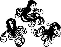 Decorative silhouettes Royalty Free Stock Photography