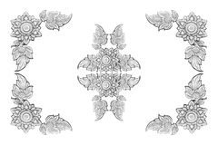 Decorative silver frame isolated on white background Stock Images