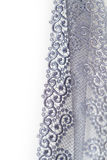Decorative silver lace Royalty Free Stock Photo