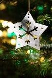 Decorative Silver Star ornament Stock Photography