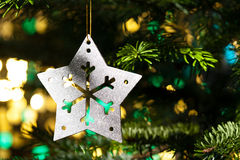 Decorative Silver Star ornament Stock Images