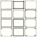 Decorative simple frames set 11. Available in high-resolution and several sizes to fit the needs of your project Royalty Free Stock Photo