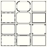 Decorative simple frames set 14. Available in high-resolution and several sizes to fit the needs of your project Royalty Free Stock Photos