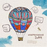 Decorative sketch of balloon Royalty Free Stock Images