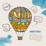 Decorative sketch of balloon Stock Photos
