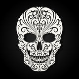 Decorative skull with ornamental and floral elements. Vector illustration Stock Images