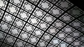 Decorative Skylight with Geometric Design stock images