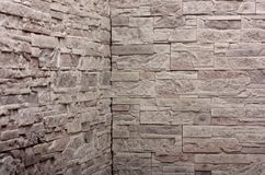 Decorative slate gray stone wall Stock Images