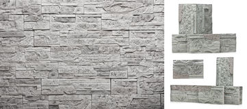 Decorative slate stone wall Royalty Free Stock Images