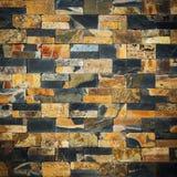 Decorative slate stone wall surface Stock Photos