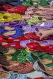 Decorative slippers Stock Photos