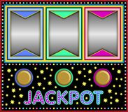 Slot machine with three empty frames Royalty Free Stock Image