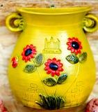 Decorative slovak pottery stock photos