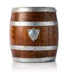 Decorative small oak barrel Stock Photos