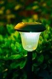Decorative Small Solar Garden Light, Lanterns In Flower Bed. Solar Royalty Free Stock Photography