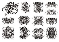 Decorative snake symbols in tribal style Royalty Free Stock Image
