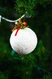 Decorative snow on a Christmas tree Stock Photo