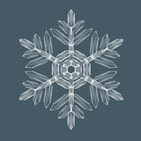 Decorative Snow flake. Decorative Snowflake. Background pattern for winter and christmas theme. Transparent realistic snow flake with mesh and gradient. Vector Royalty Free Stock Image