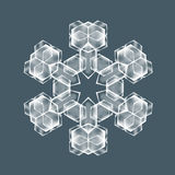 Decorative Snow flake. Decorative Snowflake. Background pattern for winter and christmas theme. Transparent realistic snow flake with mesh and gradient. Vector Royalty Free Stock Photography
