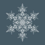 Decorative Snow flake. Decorative Snowflake. Background pattern for winter and christmas theme. Transparent realistic snow flake with mesh and gradient. Vector Stock Images