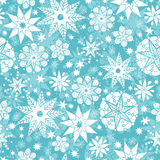 Decorative Snowflake Frost Seamless Pattern Stock Image
