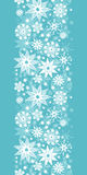 Decorative Snowflake Frost Vertical Seamless Royalty Free Stock Photos