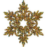 Decorative snowflake made of small stars confetti Stock Image