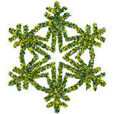 Decorative snowflake made of stars confetti Stock Photography